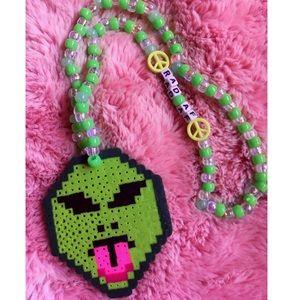 Jewelry - Kandi perler necklace intergalactic